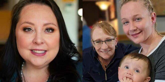 Right: lawyer Alison Grinter, Left: Reality Winner with mother Billy Jean Winner Davis